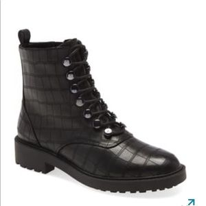 New Linea Paolo Trinity Blk Matte Croc Boots